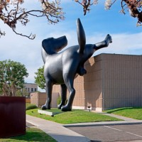 Bad Dog, A Giant Sculpture of a Dog Peeing on the Orange County Museum of Art