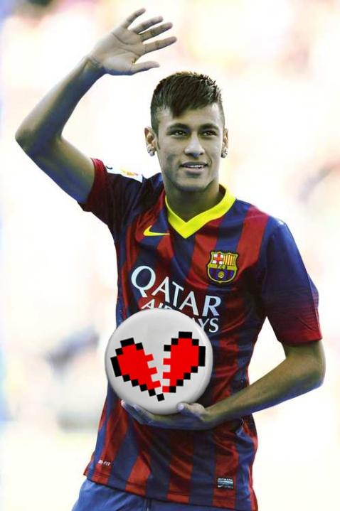 Neymar despechados