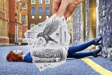 Pencil-versus-camera-Art-and-reality-in-one-2