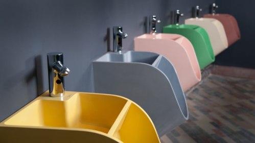 Tendem-urinal-sink
